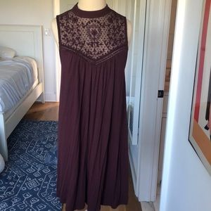 American Eagle Burgundy Sleeveless Dress
